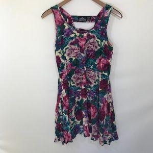Angie Vintage Inspired Floral Skater Dress Size L